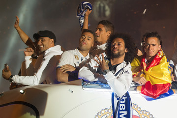 Marcelo Real Madrid Celebrate Winning La Liga