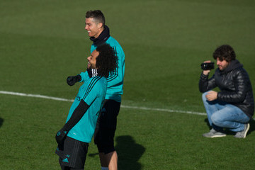 Marcelo Cristiano Ronaldo Real Madrid Training and Press Conference