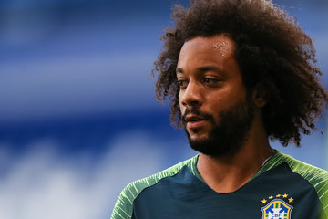 Marcelo Brazil Training And Press Conference - FIFA World Cup Russia 2018