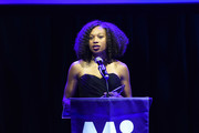 Allyson Felix receives an award at March of Dimes Get S.E.T. Los Angeles at The Novo Theater at L.A. Live on June 27, 2019 in Los Angeles, California.