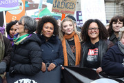 Emeli Sande, and Natalie Dormer during the #March4Women 2020 rally at Southbank Centre on March 08, 2020 in London, England. The event is to mark International Women's Day.