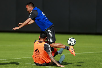 Marco Fabian Carlos Salcedo Mexico Training Session and Press Conference