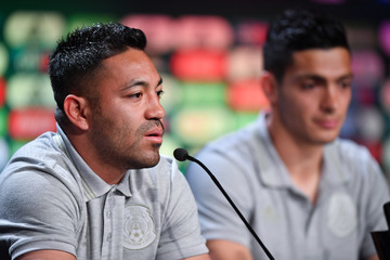 Marco Fabian Raul Jimenez Mexico Training Session And Press Conference - FIFA World Cup Russia 2018
