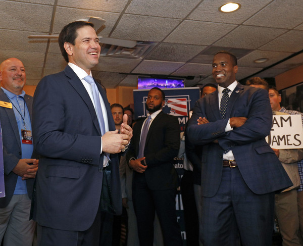 Marco Rubio Campaigns With GOP Senate Candidate John James In Detroit