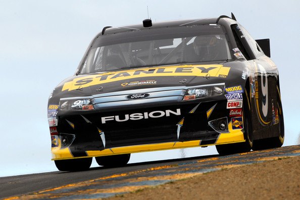Marcos Ambrose drives the #9 Stanley Ford during qualifying for the NASCAR Sprint Cup Series Toyota/Save Mart 350 at Sonoma on June 22, 2012 in Sonoma, California. (June 21, 2012 - Source: Chris Graythen/Getty Images North America)