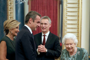 Mareva Grabowski HM The Queen Hosts NATO Leaders At Buckingham Palace Banquet