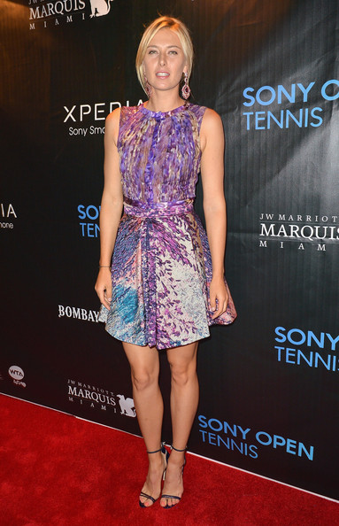 Maria Sharapova - Arrivals at the Sony Open Player Party