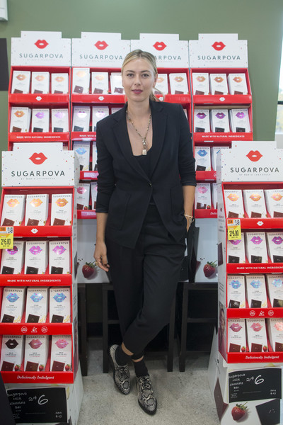 Maria Sharapova Celebrates Sugarpova in Boston at Shaw's