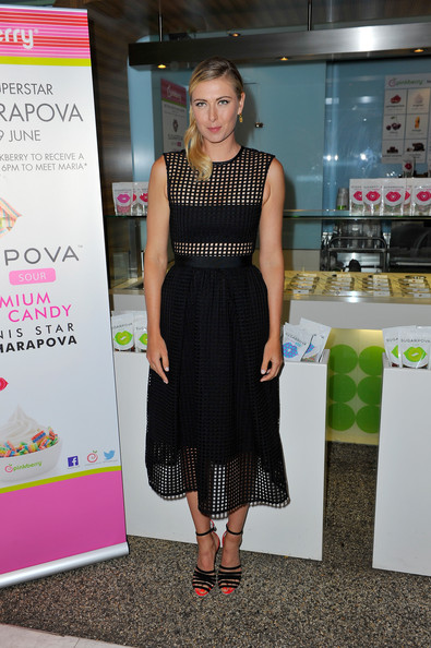 Maria Sharapova - Maria Sharapova Teams Up with Pinkberry