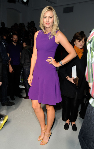 Maria Sharapova - Rodarte - Front Row - Fall 2012 Mercedes-Benz Fashion Week