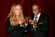 "Singer Mariah Carey and Kevin Liles announce the launch of her Go N'Syde bottle ""Butterfly"" at the Saint Regis Hotel on June 9, 2014 in New York City."