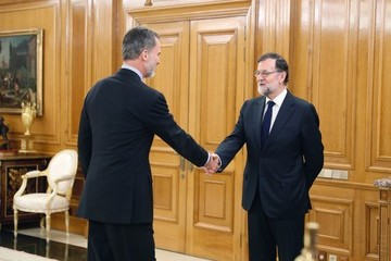Mariano Rajoy King Felipe VI of Spain King Felipe Of Spain Meets The New Minister Of Economy