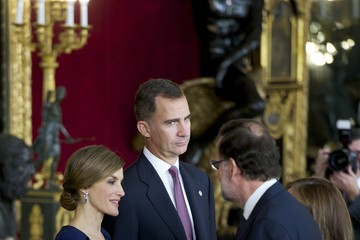 Mariano Rajoy King Felipe VI of Spain Spanish Royals Attend National Day Military Parade 2015
