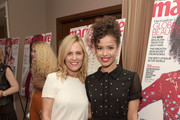 """SVP Head of marketing and ecommerce for North America at Coach Marie Audier (L) and actress Gugu Mbatha-Raw attend the """"Fresh Faces"""" party, hosted by Marie Claire, celebrating the May issue cver stars on April 11, 2016 in Los Angeles, California."""