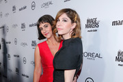 Makeup artist Jenn Streicher (L) and actress Carrie Brownstein attend the inaugural Image Maker Awards hosted by Marie Claire at Chateau Marmont on January 12, 2016 in Los Angeles, California.