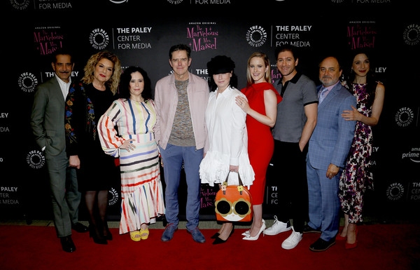 Making Maisel Marvelous At The Paley Center For 'The Marvelous Mrs. Maisel' [maisel marvelous,the paley center for media,event,red carpet,fashion,carpet,premiere,flooring,performance,fashion design,amazon prime original the marvelous mrs. maisel,tony shalhoub,amy sherman-palladino,daniel palladino,rachel brosnahan,caroline aaron,alex borstein,michael zegen]