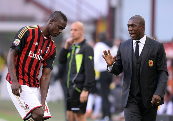 Mario Balotelli, Clarence Seedorf - Mario Balotelli and Clarence Seedorf  Photos - AC Milan v Parma FC - Serie A - Zimbio
