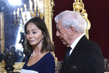 Mario Vargas Llosa Isabel Preysler Spanish Royals Attend The National Day Military Parade