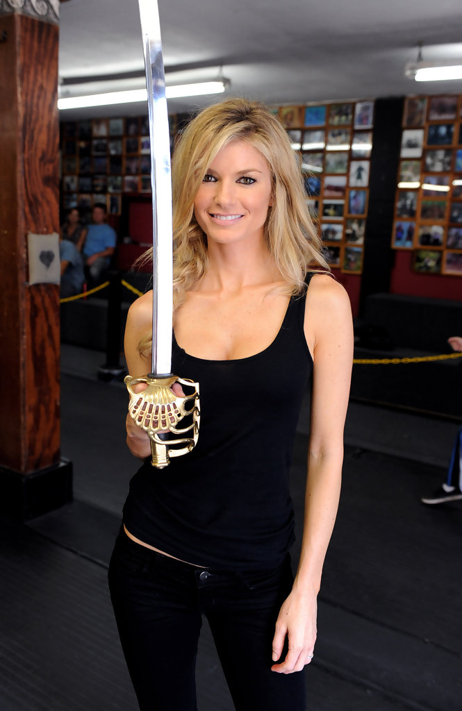 Marisa Miller Learns To Sword Fight For The New Captain