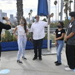 Marisa Tomei Actress Marisa Tomei Surprises Early Voters At Dodger Stadium Polling Location