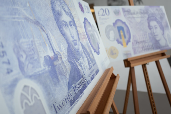 Bank Of England Governor Carney Unveils New 20 Pound Note