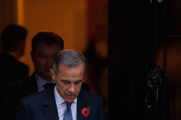 Mark Carney The Governor of The Bank of England Arrives at Number Ten Downing Street