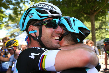 Mark Cavendish Mark Renshaw Le Tour de France 2015 - Stage Seven