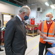 Mark Gardiner The Prince Of Wales Visits The Royal Mail's Delivery Office And Corinum Museum