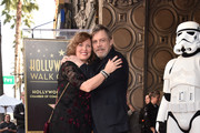 Marilou York (L) and Mark Hamill at Mark Hamill's star ceremony on the Hollywood Walk of Fame on March 8, 2018 in Hollywood, California.