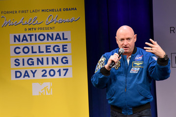 Mark Kelly MTV's 2017 College Signing Day with Michelle Obama - Inside