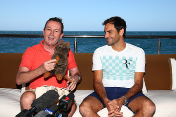 Mark McGowan 2018 Hopman Cup Roger Federer Media Opportunity