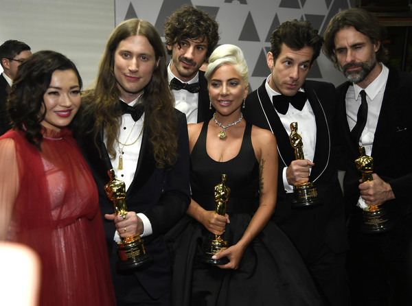 91st Annual Academy Awards - Governors Ball [original song,music,event,fashion,dress,premiere,formal wear,fashion accessory,fashion design,little black dress,ludwig goransson,winners,serena mckinney,academy awards,governors ball,award,l-r,annual academy awards governors ball]