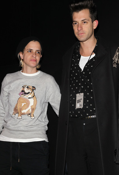 Charlotte Ronson - Front Row - Mercedes-Benz Fashion Week Fall 2015 [outerwear,canidae,dog,fashion,fawn,facial hair,formal wear,non-sporting group,t-shirt,jacket,charlotte ronson,samantha ronson,mark ronson,front row,lincoln center,new york city,the pavilion,mercedes-benz fashion week,fashion show]