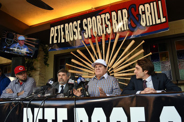 Mark Rosenbaum Pete Rose Speaks to Media after Lifetime Ban Upheld