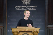 Mark Zuckerberg Talks Free Expression At Georgetown University