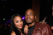 Adrian Peterson (R) and Ashley Brown attend the Marquee Takeover at Verso - Big Game Weekend presented by Hennessy V.S - Day 2 on February 5, 2016 in San Francisco, California.