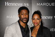 Nate Burleson (L) and Atoya Burleson attends Marquee Takeover at Verso - Big Game Weekend presented by Hennessy V.S - Day 1 on February 4, 2016 in San Francisco, California.