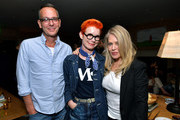 Christopher Peterson, Sandy Powell and Beverly D'Angelo attend the 'Marriage Story' Los Angeles Tastemakers at San Vicente Bungalows on October 28, 2019 in West Hollywood, California.
