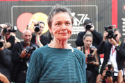 "Jury President Venice Virtual Reality Laurie Anderson walks the red carpet ahead of the ""Marriage Story"" screening during during the 76th Venice Film Festival at Sala Grande on August 29, 2019 in Venice, Italy."