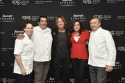 (L-R) Acclaimed chefs Stephanie Izard and Jose Garces, singer-songwriter Keith Urban, Sportscaster Michele Tafoya, and acclaimed chef Daniel Boulud at the Marriott International Rewards Members Event at Spring Studios s on April 16, 2018 in New York City. At the event, Marriott announced to its 110 million members, the unification of the Marriott Rewards, The Ritz-Carlton Rewards, and SPG and the expansion of its experiences platform Moments, to over 110,000 across 1,000 cities.