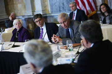 Martin Gruenberg Lew, Yellen Attend Financial Stability Oversight Council Meeting at Treasury