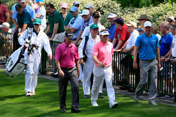 Martin Kaymer Bernhard Langer The Masters - Preview Day 3