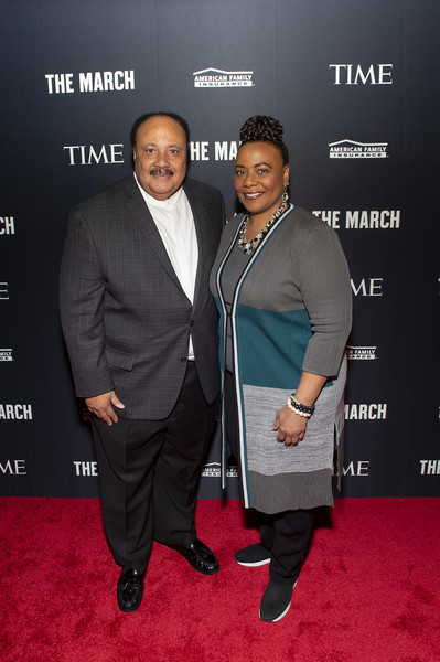 TIME Launch Event For The March VR Exhibit At The DuSable Museum In Chicago, IL [carpet,premiere,red carpet,event,suit,flooring,formal wear,martin luther king jr.,son,daughter,martin luther king iii,bernice king,chicago,dusable museum,il,time launch event,march vr exhibit,tom ford,red carpet,celebrity,public relations,socialite,tuxedo m.,carpet,red,public,tuxedo]