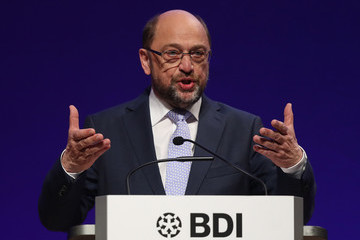 Martin Schulz German Federation of Industry Holds Annual Congress
