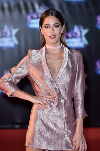 18th NRJ Music Awards - Red Carpet Arrivals [clothing,fashion model,fashion,fashion show,carpet,fashion design,event,model,long hair,muscle,red carpet arrivals,martina stoessel,cannes,france,nrj music awards,palais des festivals]