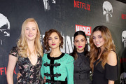 "Deborah Ann Woll, Amber Rose Revah, Floriana Lima and Giorgia Whigham attend ""Marvel's The Punisher"" Seasons 2 Premiere at ArcLight Hollywood on January 14, 2019 in Hollywood, California."