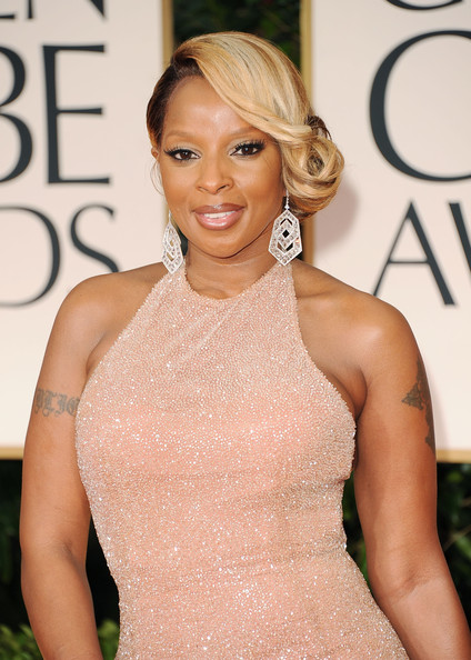 Mary J Blige Singer Arrives At The 69th Annual Golden