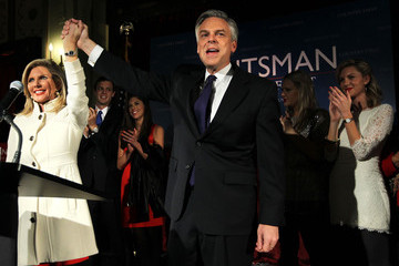 Mary Anne Huntsman GOP Presidential Hopeful Jon Huntsman Attends NH Primary Rally