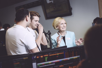 Mary Berry The 13th Annual BGC Charity Day At BGC Partners In London's Canary Wharf - Behind The Scenes Colour