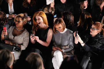 Mary J. Blige Dennis Basso - Front Row - Mercedes-Benz Fashion Week Fall 2014